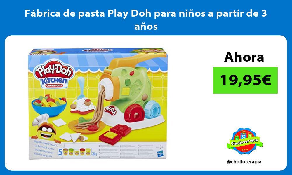 Fábrica de pasta Play Doh para niños a partir de 3 años