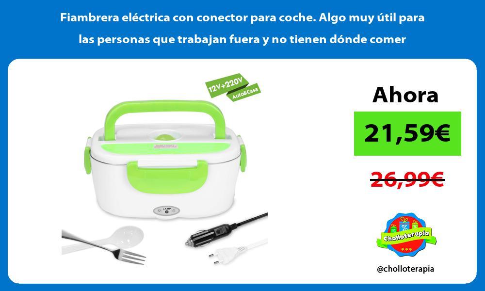 Fiambrera eléctrica con conector para coche Algo muy útil para las personas que trabajan fuera y no tienen dónde comer