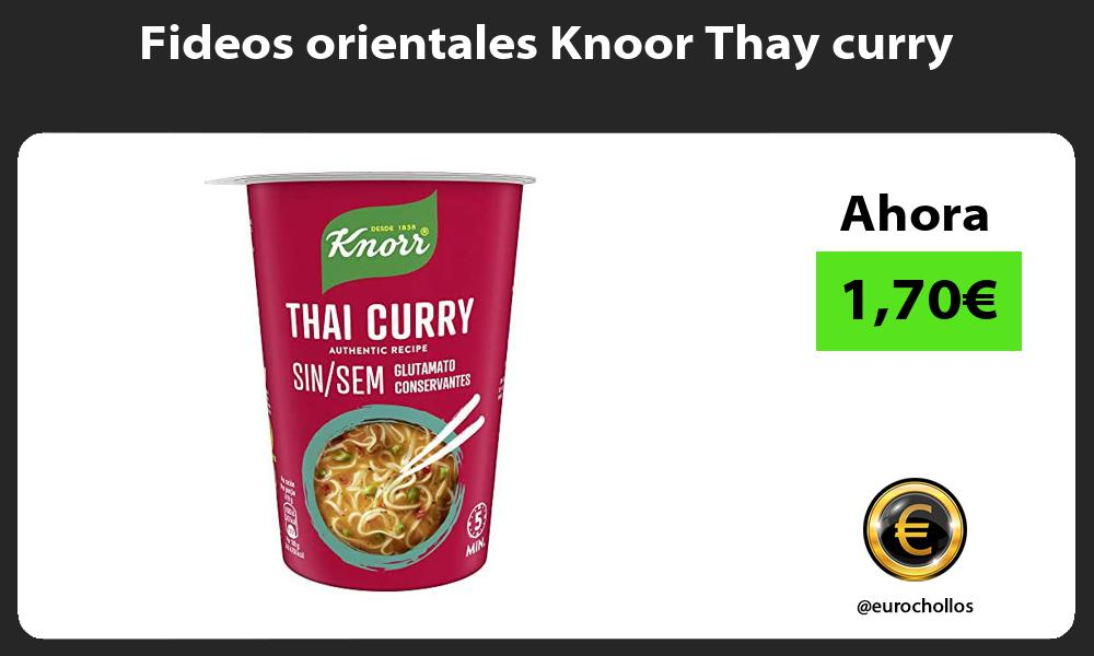 Fideos orientales Knoor Thay curry