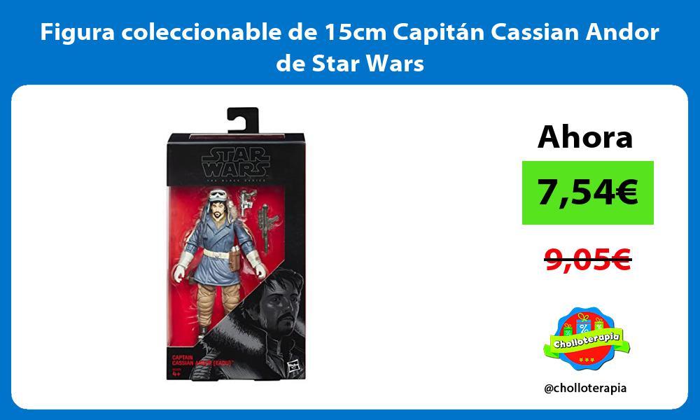 Figura coleccionable de 15cm Capitán Cassian Andor de Star Wars