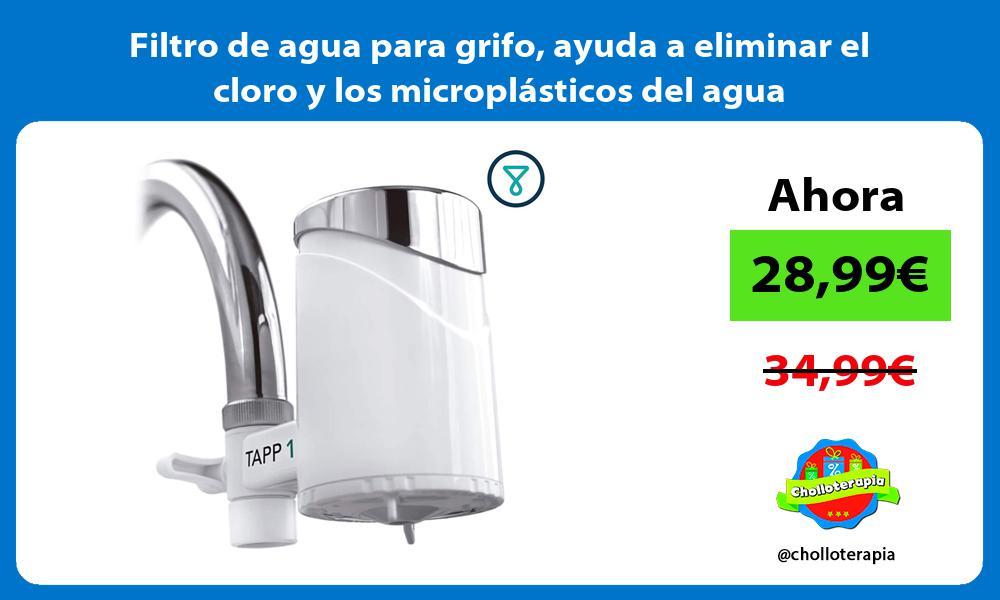 Filtro de agua para grifo ayuda a eliminar el cloro y los microplásticos del agua