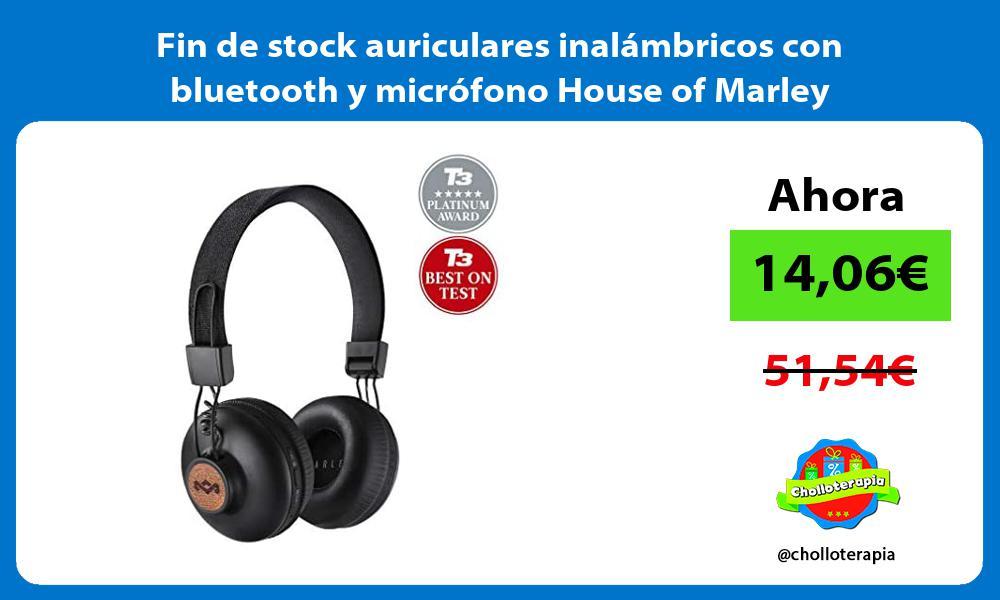 Fin de stock auriculares inalámbricos con bluetooth y micrófono House of Marley