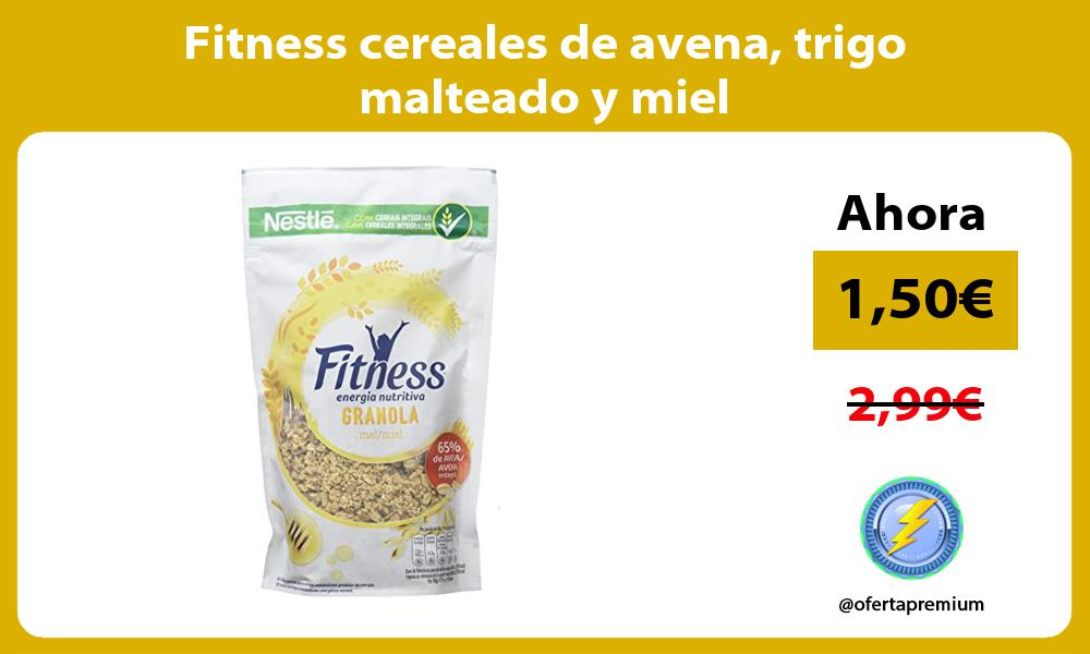 Fitness cereales de avena trigo malteado y miel