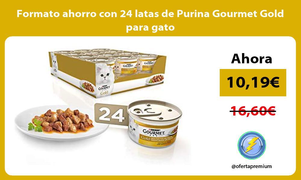 Formato ahorro con 24 latas de Purina Gourmet Gold para gato