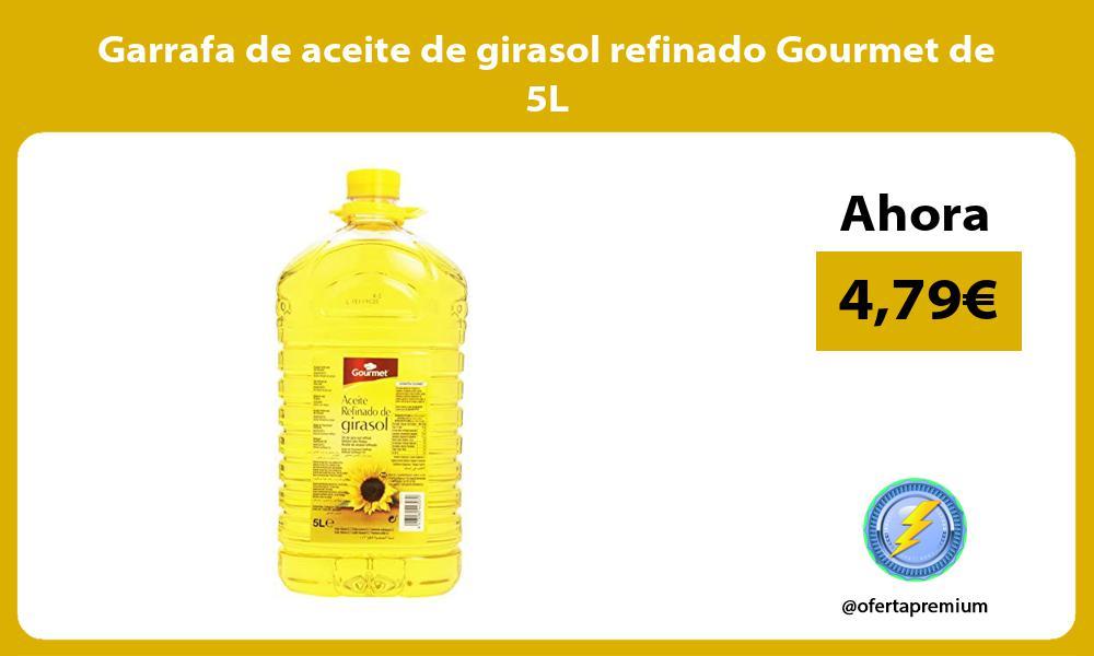 Garrafa de aceite de girasol refinado Gourmet de 5L