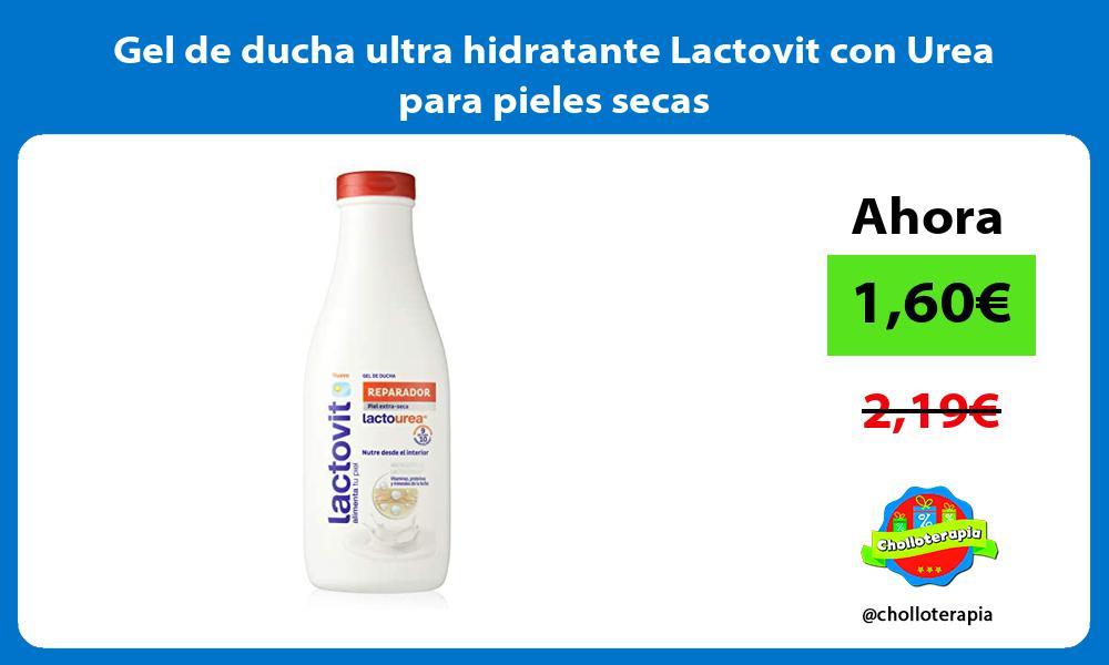 Gel de ducha ultra hidratante Lactovit con Urea para pieles secas