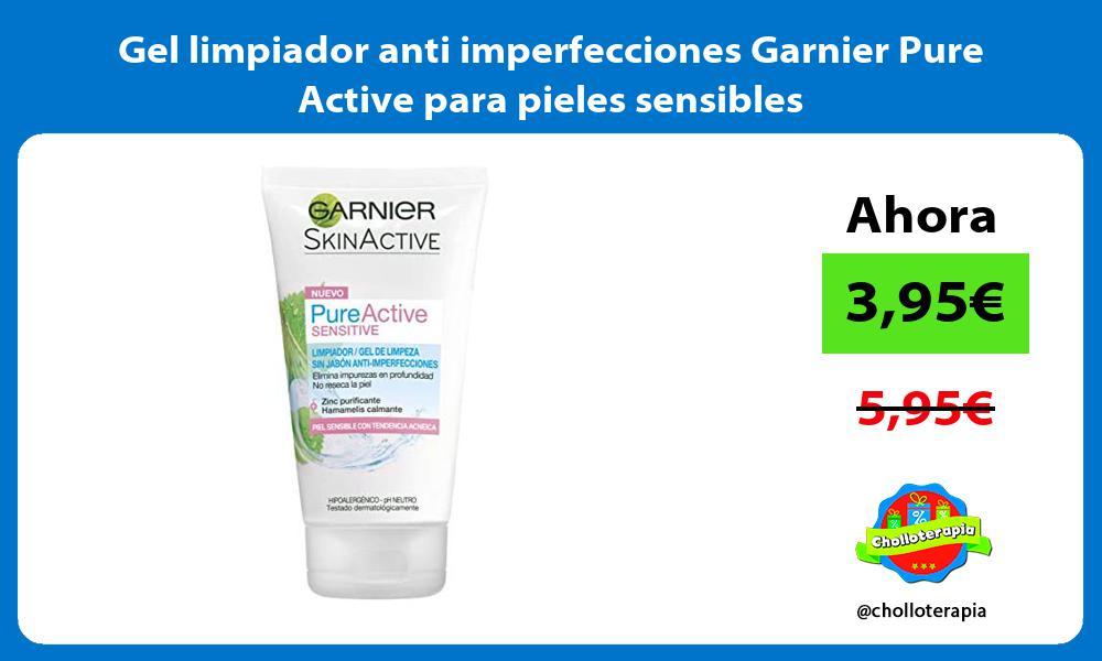Gel limpiador anti imperfecciones Garnier Pure Active para pieles sensibles