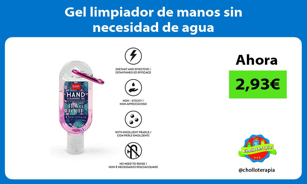 Gel limpiador de manos sin necesidad de agua
