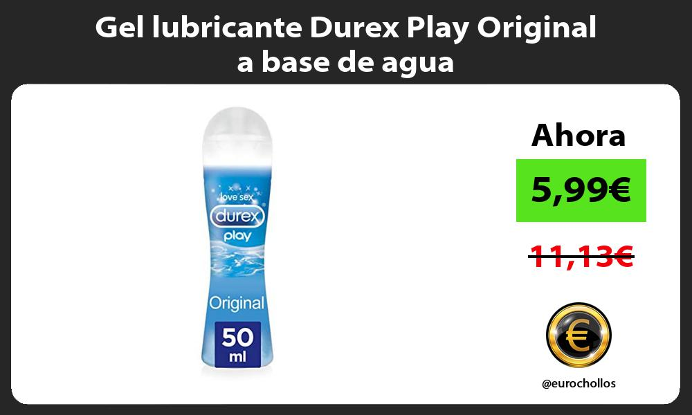 Gel lubricante Durex Play Original a base de agua