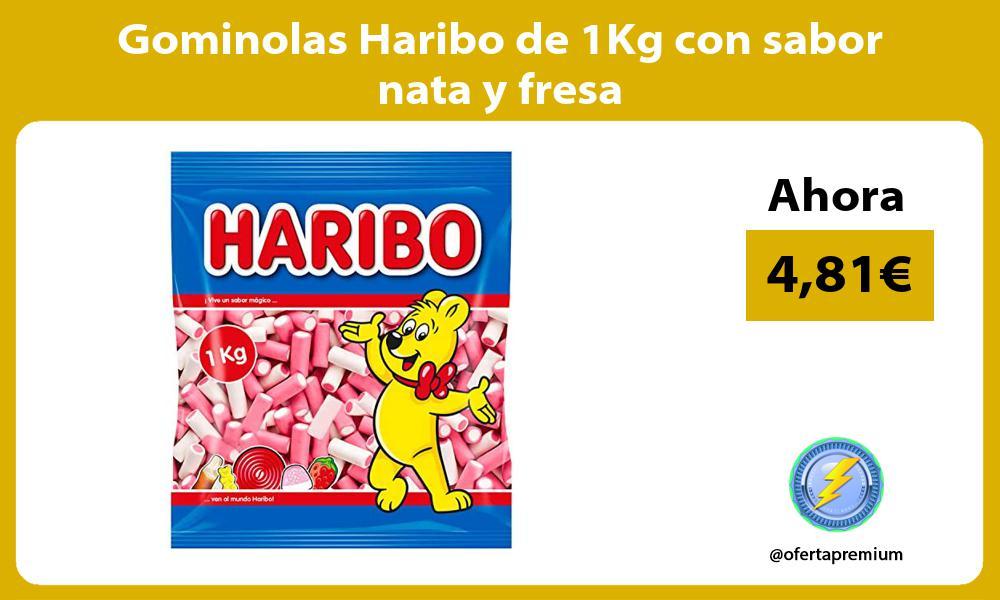 Gominolas Haribo de 1Kg con sabor nata y fresa