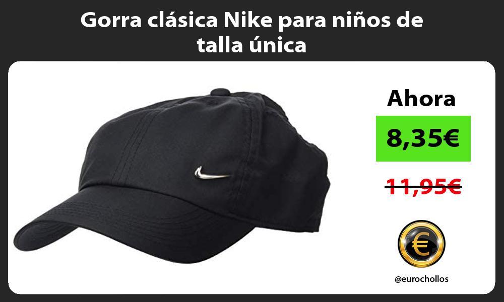 Gorra clásica Nike para niños de talla única