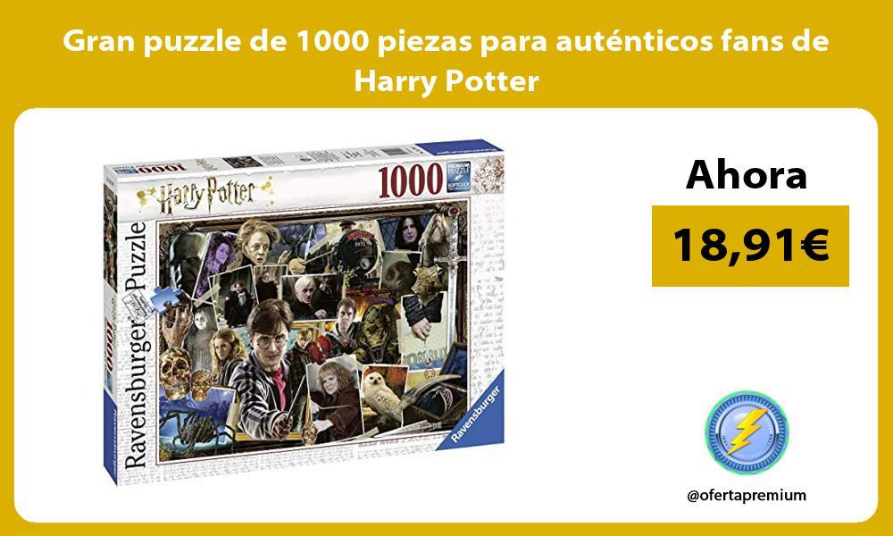 Gran puzzle de 1000 piezas para auténticos fans de Harry Potter