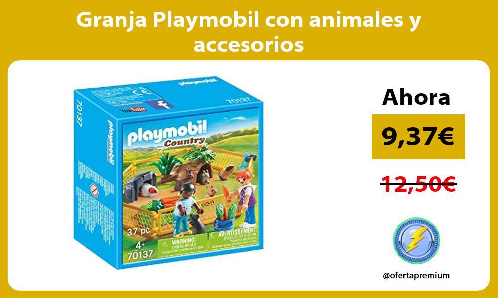 Granja Playmobil con animales y accesorios