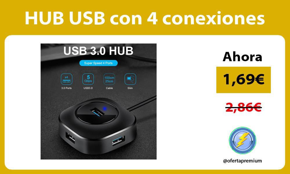 HUB USB con 4 conexiones