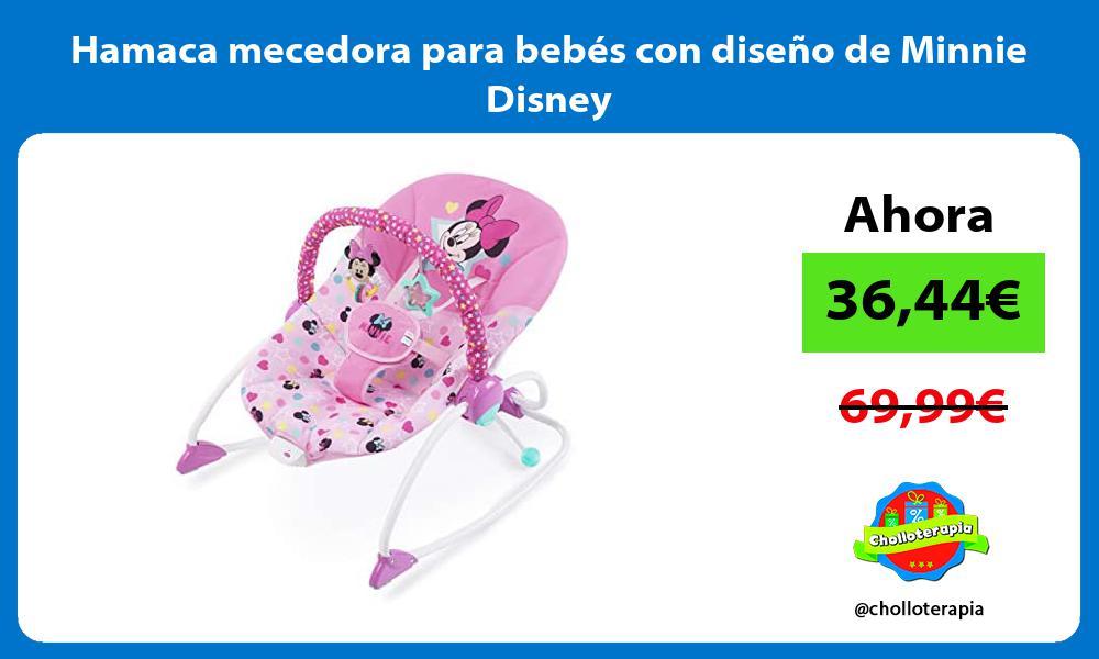 Hamaca mecedora para bebés con diseño de Minnie Disney