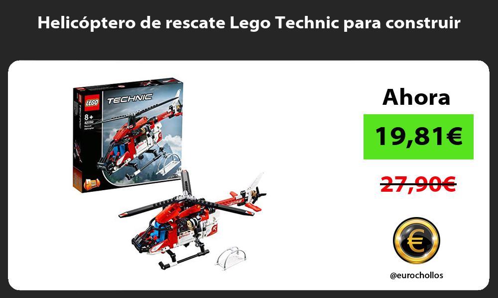 Helicóptero de rescate Lego Technic para construir