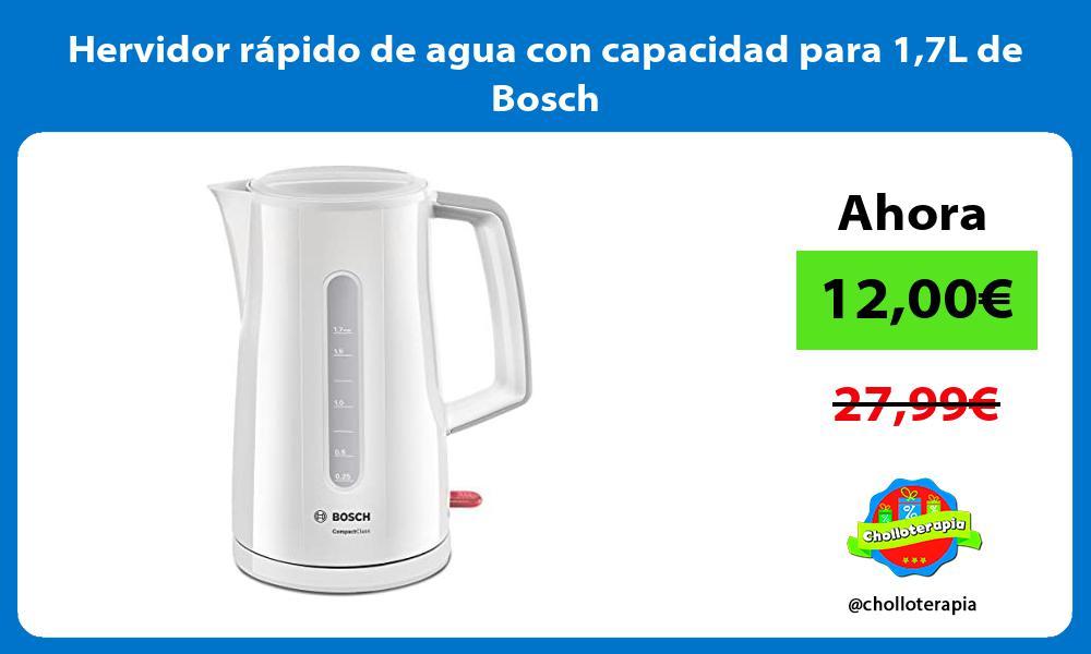 Hervidor rápido de agua con capacidad para 17L de Bosch
