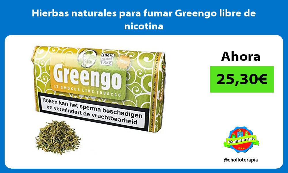 Hierbas naturales para fumar Greengo libre de nicotina