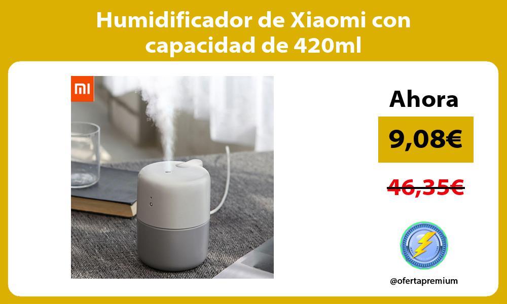 Humidificador de Xiaomi con capacidad de 420ml