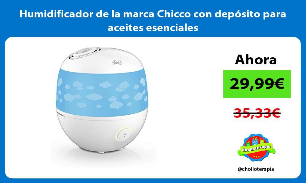 Humidificador de la marca Chicco con depósito para aceites esenciales