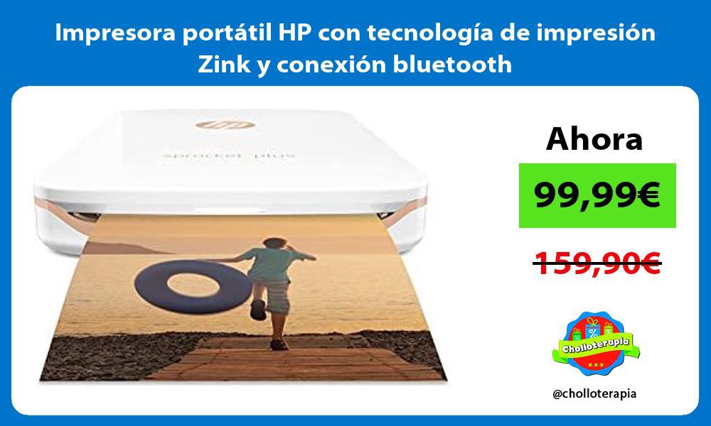 Impresora portátil HP con tecnología de impresión Zink y conexión bluetooth