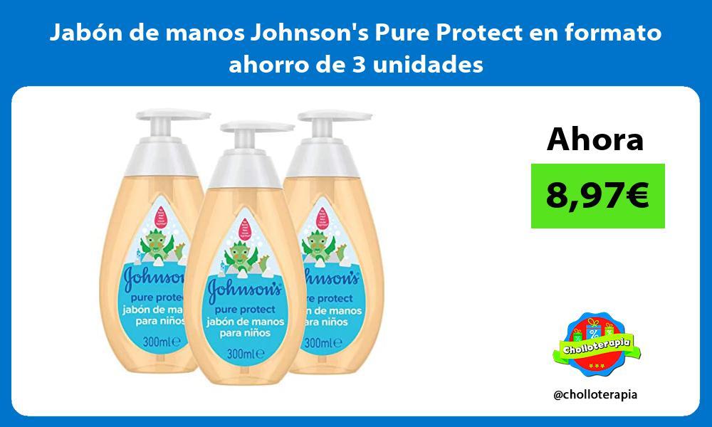 Jabón de manos Johnsons Pure Protect en formato ahorro de 3 unidades