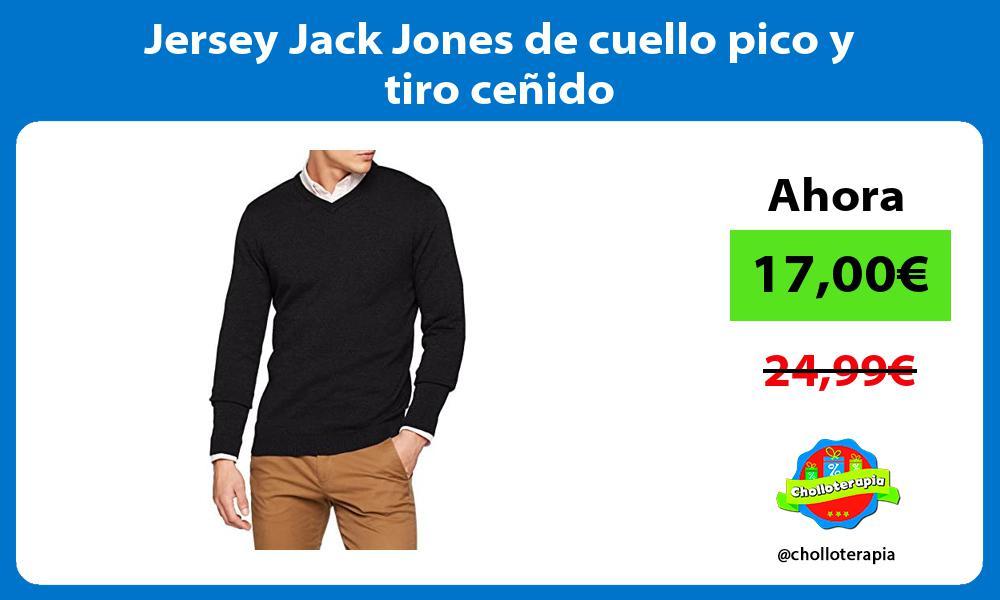 Jersey Jack Jones de cuello pico y tiro ceñido