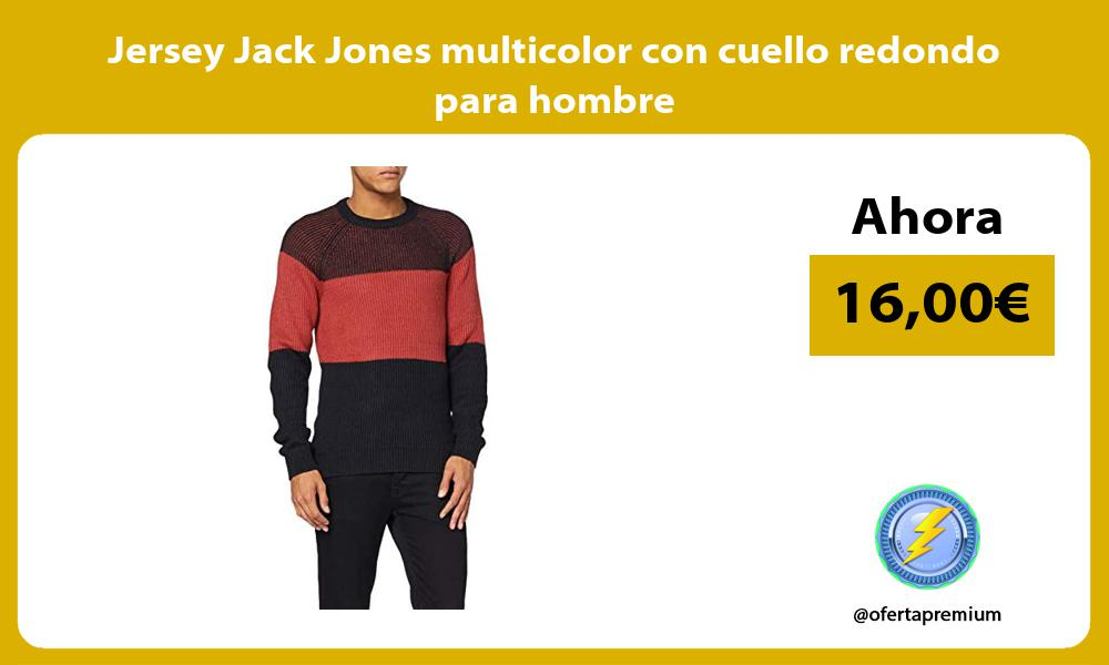 Jersey Jack Jones multicolor con cuello redondo para hombre