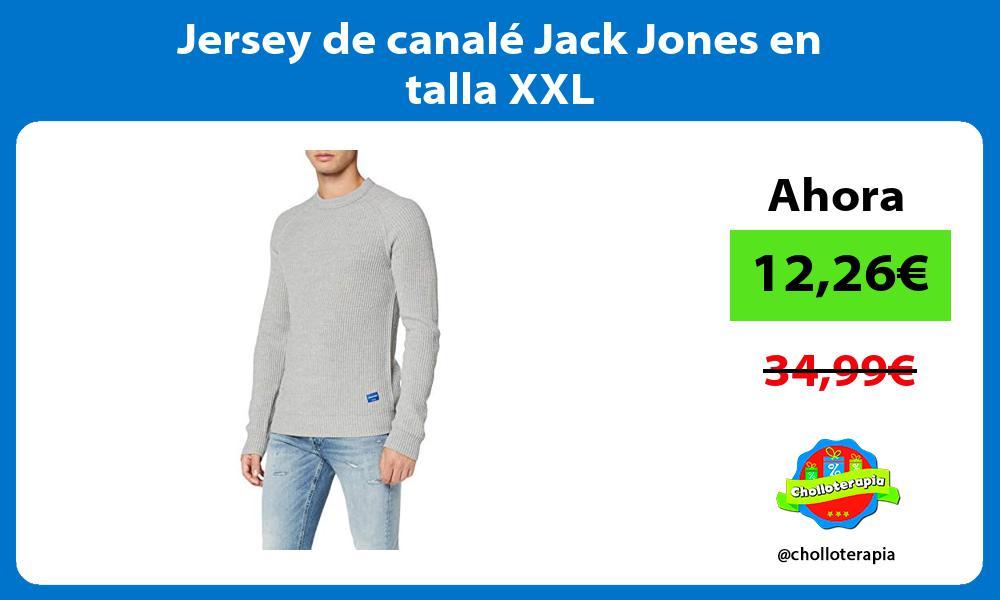Jersey de canalé Jack Jones en talla XXL