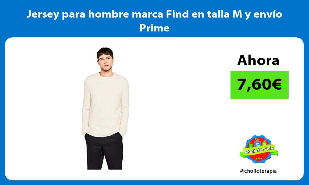Jersey para hombre marca Find en talla M y envío Prime