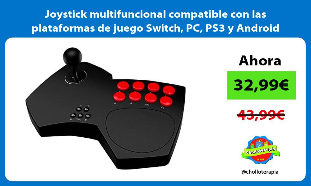 Joystick multifuncional compatible con las plataformas de juego Switch PC PS3 y Android