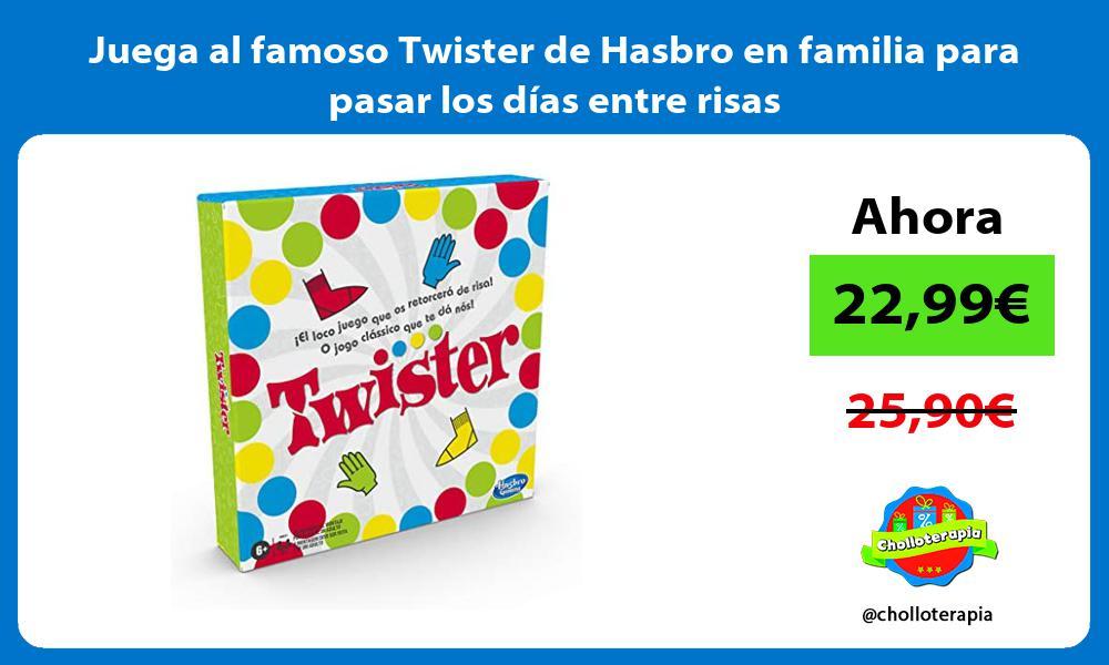 Juega al famoso Twister de Hasbro en familia para pasar los días entre risas