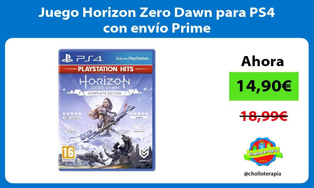Juego Horizon Zero Dawn para PS4 con envío Prime