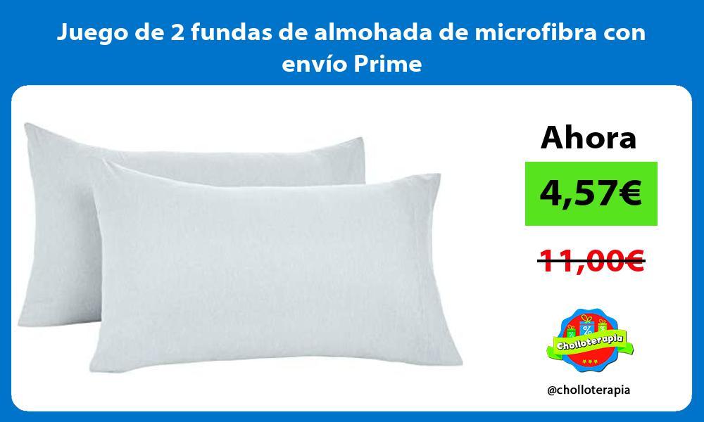 Juego de 2 fundas de almohada de microfibra con envío Prime