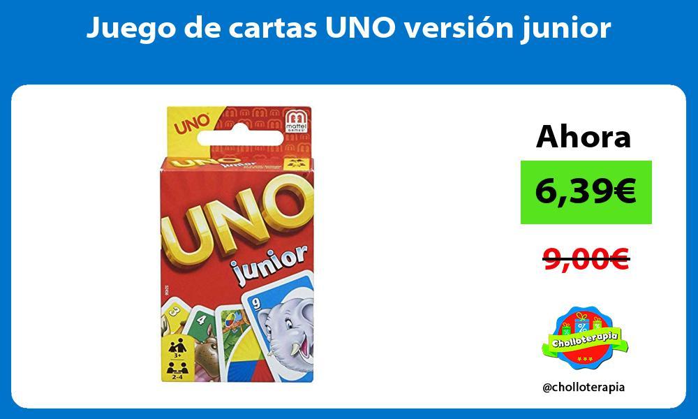 Juego de cartas UNO versión junior