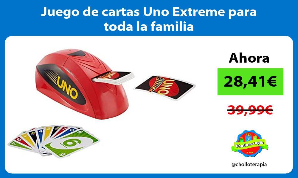Juego de cartas Uno Extreme para toda la familia