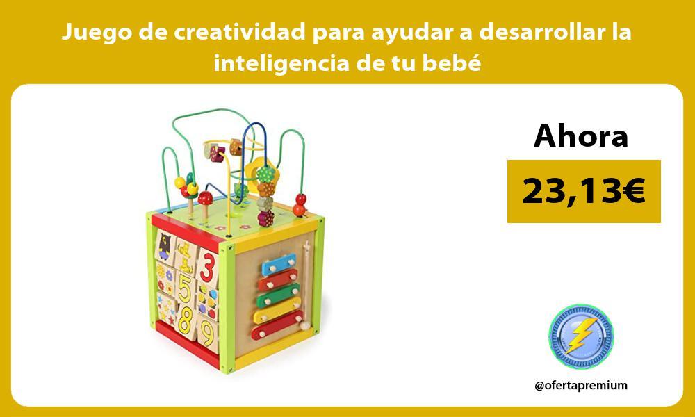 Juego de creatividad para ayudar a desarrollar la inteligencia de tu bebé