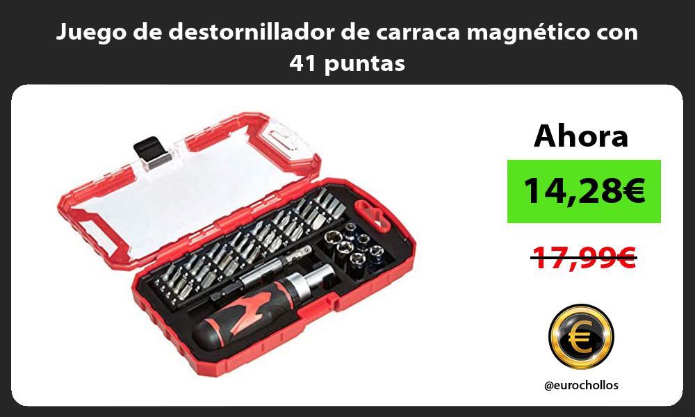 Juego de destornillador de carraca magnético con 41 puntas