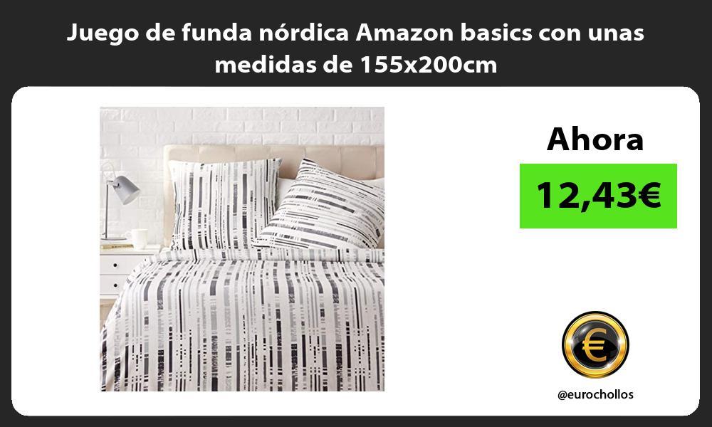 Juego de funda nórdica Amazon basics con unas medidas de 155x200cm
