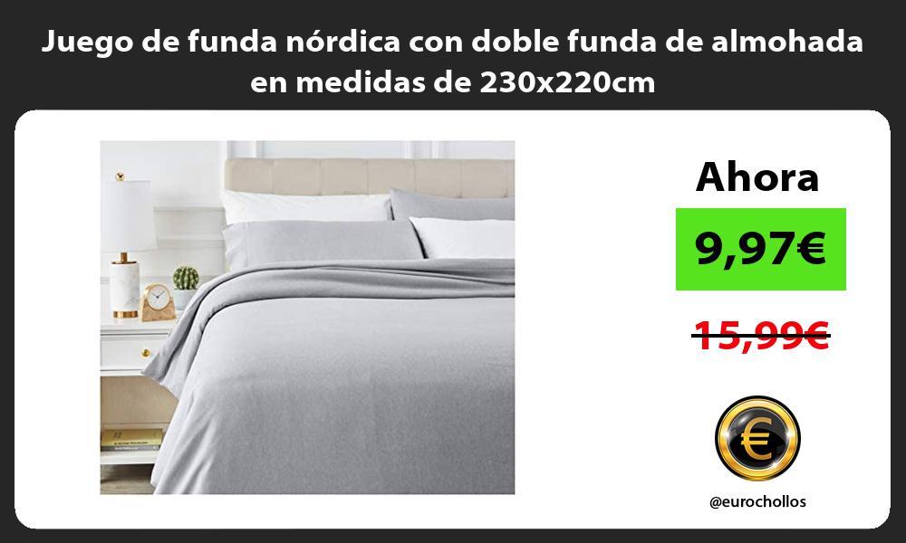 Juego de funda nórdica con doble funda de almohada en medidas de 230x220cm