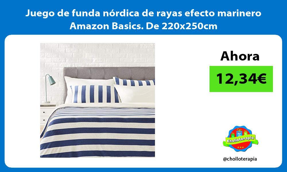 Juego de funda nórdica de rayas efecto marinero Amazon Basics De 220x250cm