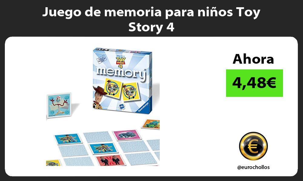 Juego de memoria para niños Toy Story 4