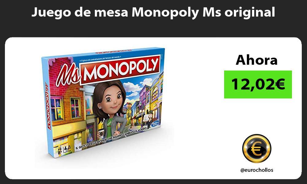 Juego de mesa Monopoly Ms original