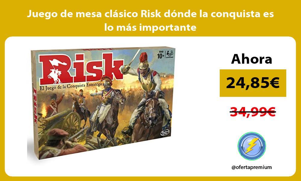 Juego de mesa clásico Risk dónde la conquista es lo más importante