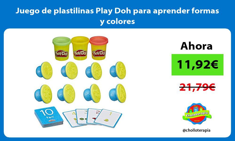 Juego de plastilinas Play Doh para aprender formas y colores