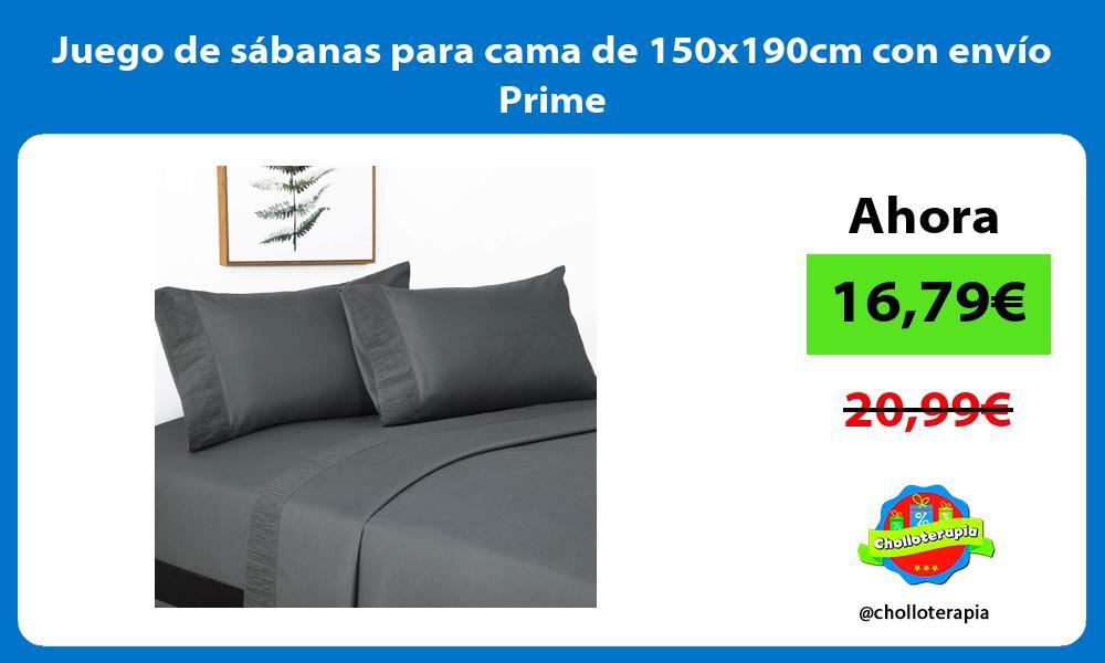 Juego de sábanas para cama de 150x190cm con envío Prime