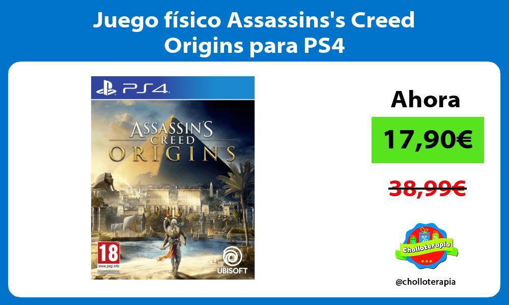 Juego físico Assassinss Creed Origins para PS4