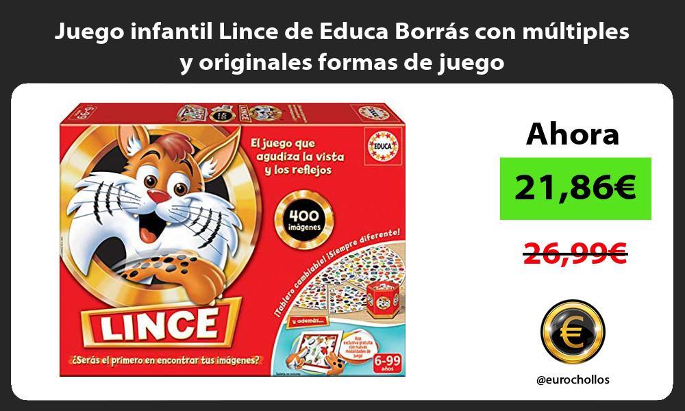 Juego infantil Lince de Educa Borrás con múltiples y originales formas de juego