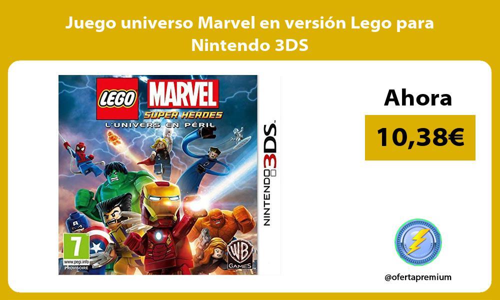 Juego universo Marvel en versión Lego para Nintendo 3DS