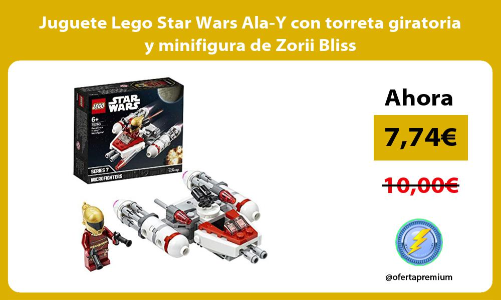 Juguete Lego Star Wars Ala Y con torreta giratoria y minifigura de Zorii Bliss